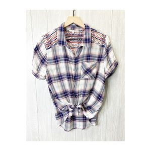 Miss Me Flannel Shirt LARGE